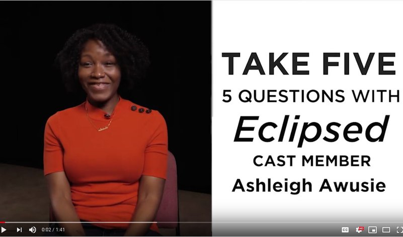 Take 5 with Ashleigh Awusie from <em>Eclipsed</em>