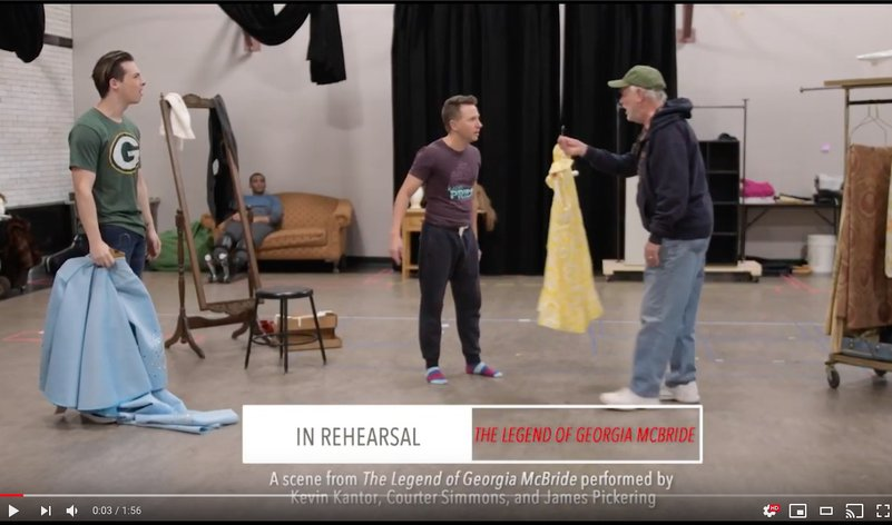 <em>The Legend of Georgia McBride</em> - In Rehearsal