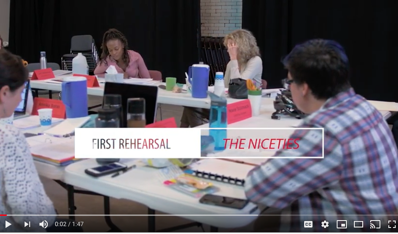 <em>The Niceties</em> - First Rehearsal
